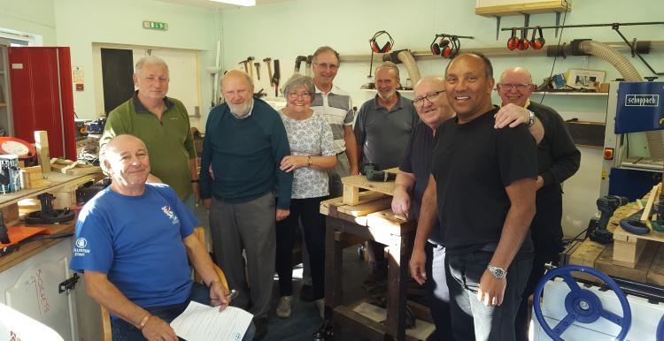 Members of Corsham memory shed
