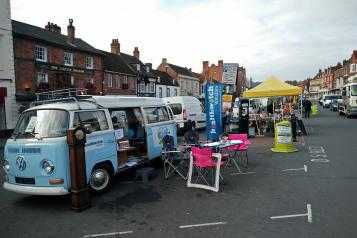 Campervan in Marlborough Market Place