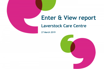 Enter and View: Laverstock report front cover