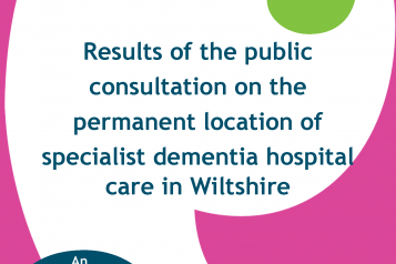 Consultation on dementia hospital care front cover
