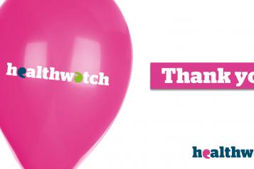 Healthwatch thank you balloon