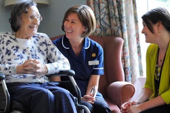 care home staff and resident