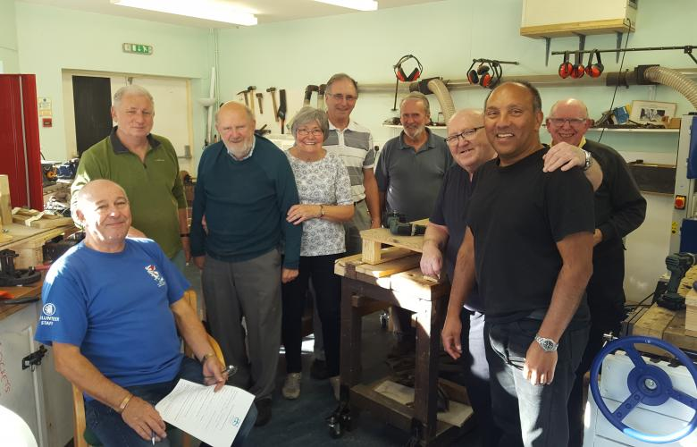 Members of Corsham memory shed