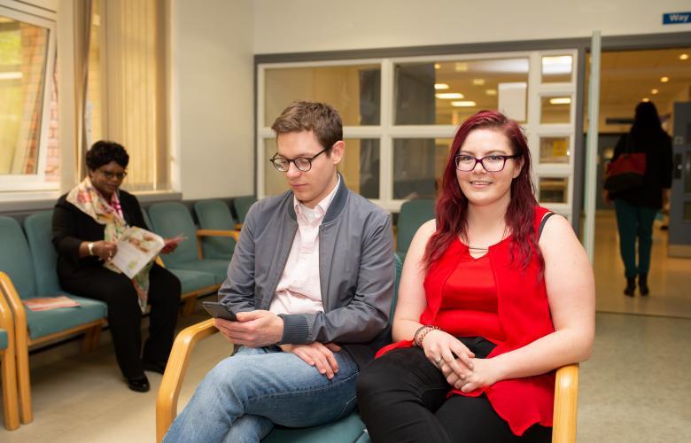 people in waiting room
