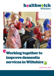 Working Together to Improve Dementia Services front cover