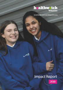 Healthwatch Wiltshire Impact Report 2018 front cover