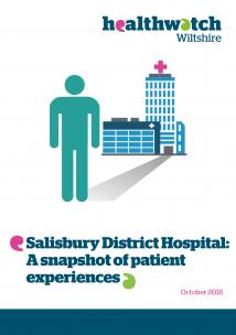 Salisbury Hospital Snapshot report front cover