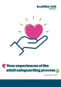 adult safeguarding report front cover with heart in hand icon